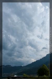 Himmel am 1. August